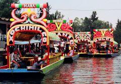 Take a boat at Xochimilco in Mexico City